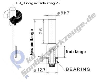 b ndigfr ser und oberfr ser mit anlaufring in dia pkd sonderwerkzeuge. Black Bedroom Furniture Sets. Home Design Ideas